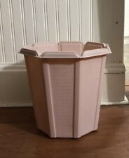 Vtg Mid Century Rubbermaid Pink Wastebasket Trash Waste Can Garbage
