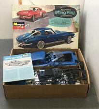 1965 Monogram Corvette Stingray Model 1:8 Scale Original W/box As Found
