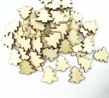 50X Natural wood Christmas tree Wooden crafts decoration Christmas Sewing 20mm