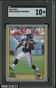 2001 Topps #350 LaDainian Tomlinson San Diego Chargers RC Rookie SGC 10