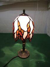 Pequeño Vintage Estilo Tiffany Ámbar Báltico & Escritorio Mesa Lámpara de cristal de leche
