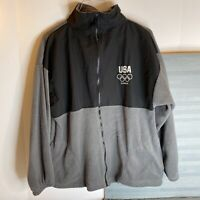 Olympic Committee Windbreaker Jacket Team USA London Mens M Fleece FREE SHIPPING