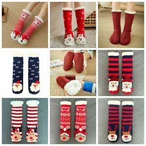 1 Pair Women Thick Fluffy Non-slip Warm Soft Fur Winter Bed Home Socks Slippers