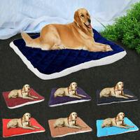 Plush Dog Bed Warm Soft Large Pets Cat Cushion Sleeping Mat Cozy Washable Hot CC