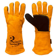 CLEARANCE LOT 282389 WOOD BURNER STOVES PAIR LONG GLOVES GAUNTLETS LEATHER
