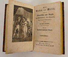 WENZEL, Gottfried Immanuel. Der Mann von Welt, 1801. 1. Ausgabe.