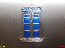 steampunk silver tardis police box fridge magnet timelord Doctor Who