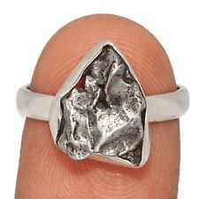925 Silver Ring s.7 Ar193353 Meteorite Campo Del Cielo - Argentina