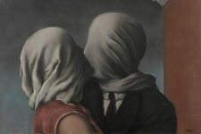 Framed Print - René Magritte The Lovers (Picture Surrealism Painting Replica)