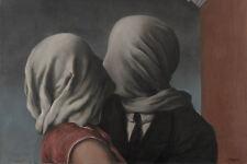 Stampa incorniciata-René Magritte GLI AMANTI SURREALISMO (Immagine Pittura replica)