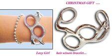 Barber Hairdressers Hair Scissors Bracelet Silver New Style  GIFT