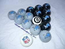 NEW Officially Licensed NFL Detroit LIONS Football Billiard Pool Cue Ball Set