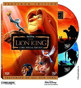 Brand New DVD The Lion King (2-Disc Platinum Edition) (1994) DISNEY Collectible