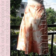 MIU MIU Shiny Fabric A-Line Floral Print Skrit!I40/S