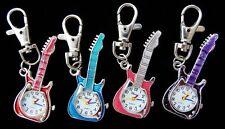 Bulk lots 10 pcs Guitar style Key Ring watches gifts L1