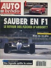 AUTO HEBDO n°857 du 25 Novembre 1992 VW GOLF GTI 16S