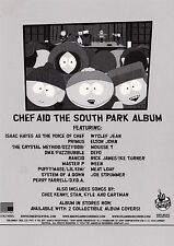 """CHEF AID - THE SOUTH PARK ALBUM"" ELTON JOHN DEVO IKE TURNER 1998 PROMO POSTCARD"