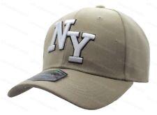 Mens Ladies New York NY Plain Baseball Cap Adults Curved Peak 6 Panel Sun Hat