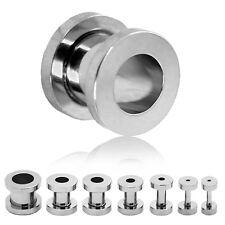 Túnel bollos acero inoxidable set Plug piercing joyas pendientes plateados dehnstab