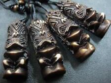 12 pcs Tribal Carving Tiki Man Totem Biker Cool Pendant Necklace Ng10