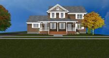 Beautiful 2-Story Brick House Plan 2366 Sf