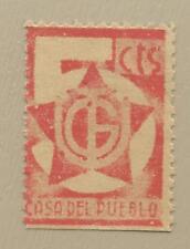 ESPAÑA GUERRA CIVIL U.G.T. CASA DEL PUEBLO      -NUEVO SIN GOMA-