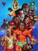 Sting Legion of Doom Demolition Wrestling Legends Art Print 8x10 WWF WCW