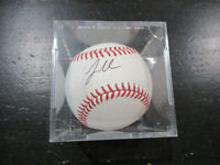 Logan Morrison Autographed Baseball Marlins Mariners Rays Twins Yankees Signed