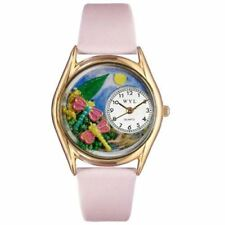 Whimsical Watches Women's C1210007 Classic Gold Dragonflies Pink Leather And Gol