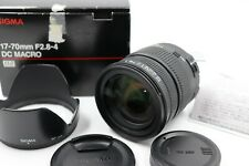 """""""Excellent+"""" Sigma 17-70mm F2.8-4 DC MACRO OS HSM For Sony(Minolta)"""