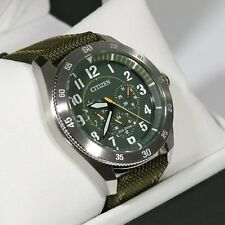 Citizen Eco Drive Green Military Style Men's Watch BU2030-09W
