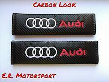 "Copricinture Carbon Look RED "" AUDI "" A1 A2 A3 A4 A5 A6 A7 Q3 Q5 Q7 S LINE S3 S4"