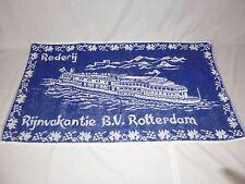 Vtg B.V. Rotterdam River Cruise Souvenir Towel 18 x35