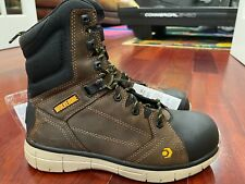 Wolverine Men's Rigger Wpf Comp Toe Mid Wedge Summer Brown Size 9M (Msrp=$145)