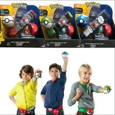 Pokemon Clip N GO Carry Poke Ball Belt Toys Original Pikachu Cross Game Kid Gift