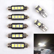 7x SMD LED White Car Interior Reading Lights Bulbs for Vauxhall Corsa D (White)