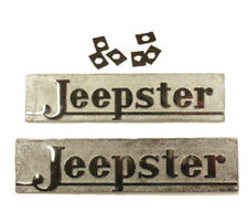 Hood Name Plate Set Jeepster 1948-1949
