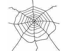 Ragnatela Ragno 3 metri in Tessuto Decorazioni HALLOWEEN Nero Addobbi