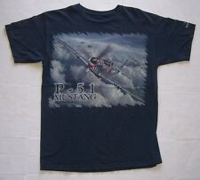Vintage P-51 Mustang Planes Of Fame Air Museum Chino California T Shirt Med