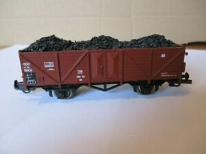 Roco 46010 offener Güterwagen / Hochbordwagen 766119 Om mit Kohleladung, NEM