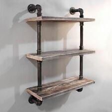 Urban Rustic Industrial DIY Floating Pipe Shelf 610mm X 250mm - 3 Levels