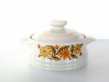 VTG Capri Bake Serve 'n Store Stoneware Pot bakeware Japan flowers mini crock