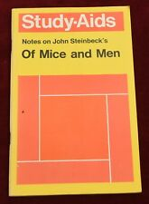 """Notes on Johm Steinbeck's """"Of Mice & Men"""" by H M Burton Study Aids p/b"""