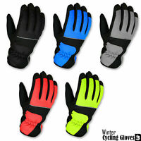 Winter Cycling /Motorbike Full Finger Gloves With Inner Fleece Windstopper Mitts