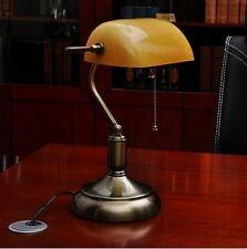 Lampada da scrivania da tavolo per ufficio o studio Banchiere Ministeriale Ambra