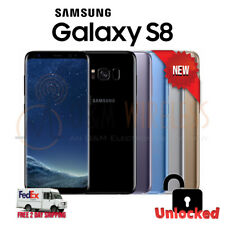 NEW Samsung GALAXY S8 64GB Gray Silver Black Blue (SM-G950U1, Factory Unlocked)