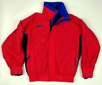 Vtg 90s Red COLUMBIA Ski Jacket Bugaboo EUC Men's Sml Zipped Liner Retro