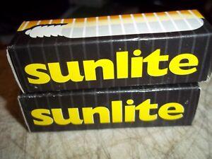 2 PC LOT SUNLITE 15T6/CL CLEAR CANDELABRA BASE TUBULAR LIGHT BULB