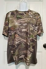 NWOT Under Armour Mens Scent Control Short Sleeve Shirt Forest Camo Heatgear XXL