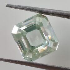 Cut Loose Moissanite Diamond 4 Ring/Pendant 1.35Ct 6.27 Mm Vs1 Off White Asscher